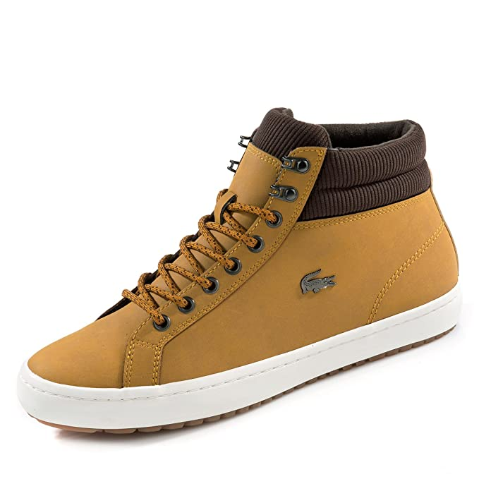 c35486395 Lacoste Men s Straightset Insulac CAM Leather Trainers