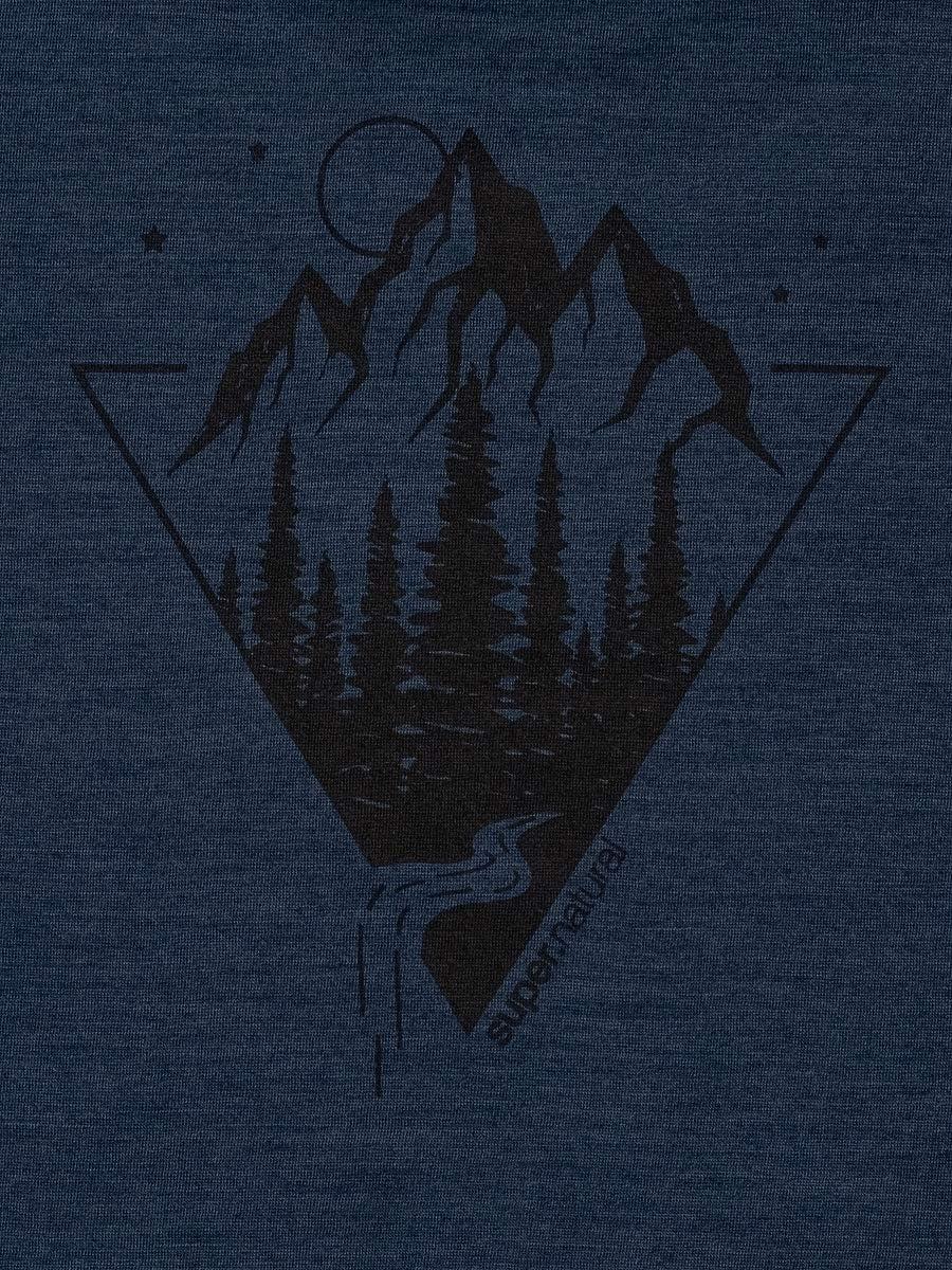 Mit Merinowolle super.natural Herren Kurzarm T-Shirt M GRAPHIC TEE