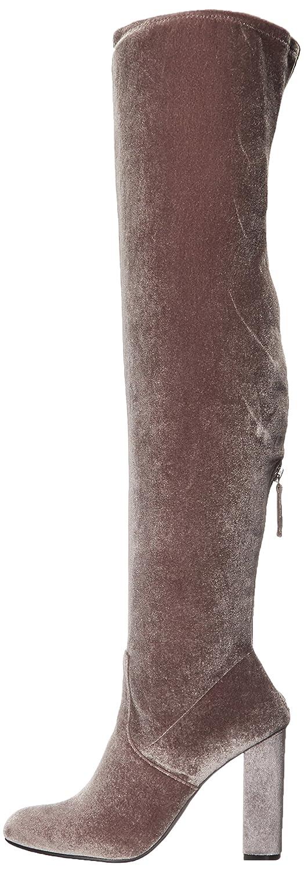 Steve Madden Women's Emotions Over The Knee Boot B01M4HHIYB 10 B(M) US Grey Velvet