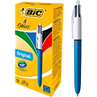 Deals on 12-Count BIC 4-Color Ballpoint Pen, Medium Point (1.0mm)