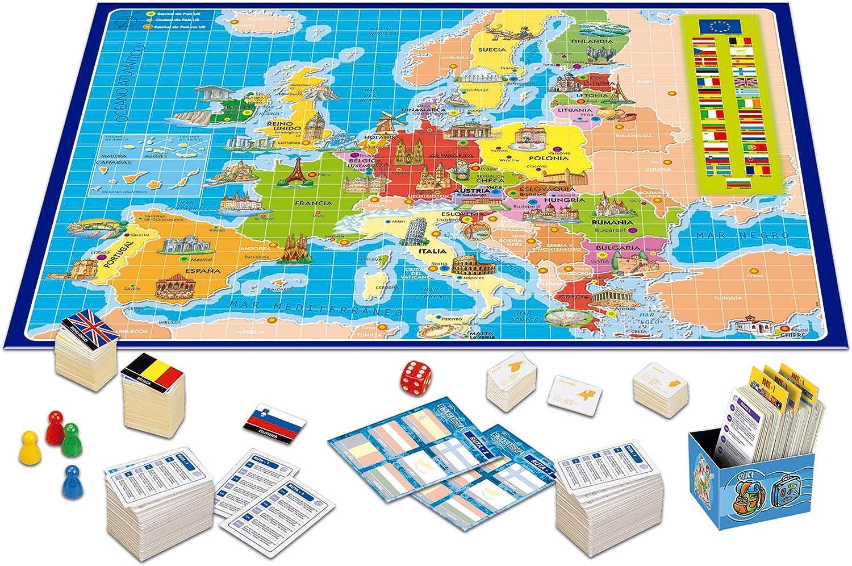 Educa Borrás-Conocer Europa Juego de Mesa, 33.3 x 22.9 x 4.6 14669 ...