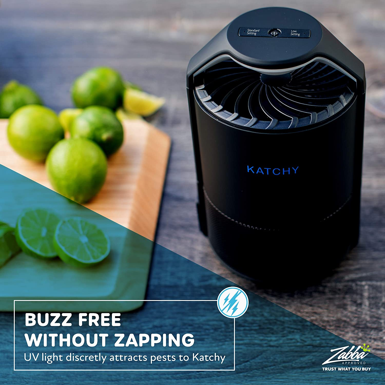 KATCHY Indoor Insect Trap: Bug, Fruit Fly, Gnat, Mosquito Killer - UV Light, Fan, Sticky Glue Boards Trap Even The Tiniest Flying Bugs - No Zapper- (Black) : Garden & Outdoor