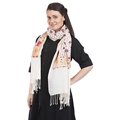 e694eb052 Cashmere Shawl - La Vastraa Cashmere Hand Embroidery Shawl - Embroidered  Shawls and Wraps for evening dresses at Amazon Women's Clothing store: