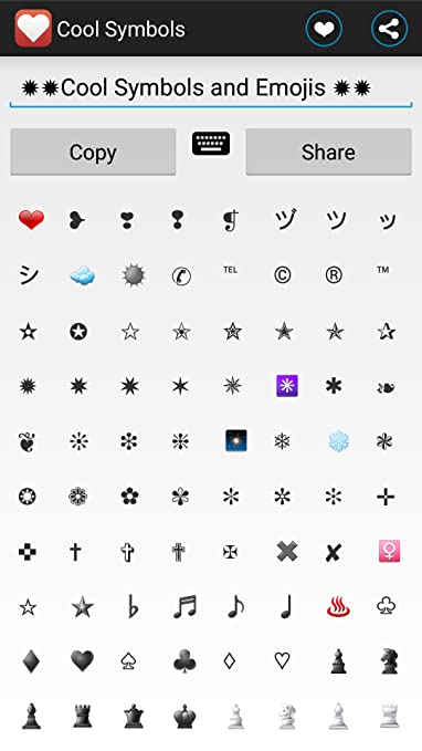 Amazon Cool Text Symbols Emoji Appstore For Android