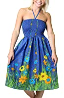 One-size-fits-most Tube Dress/Coverup - Flower Garden (many colors)