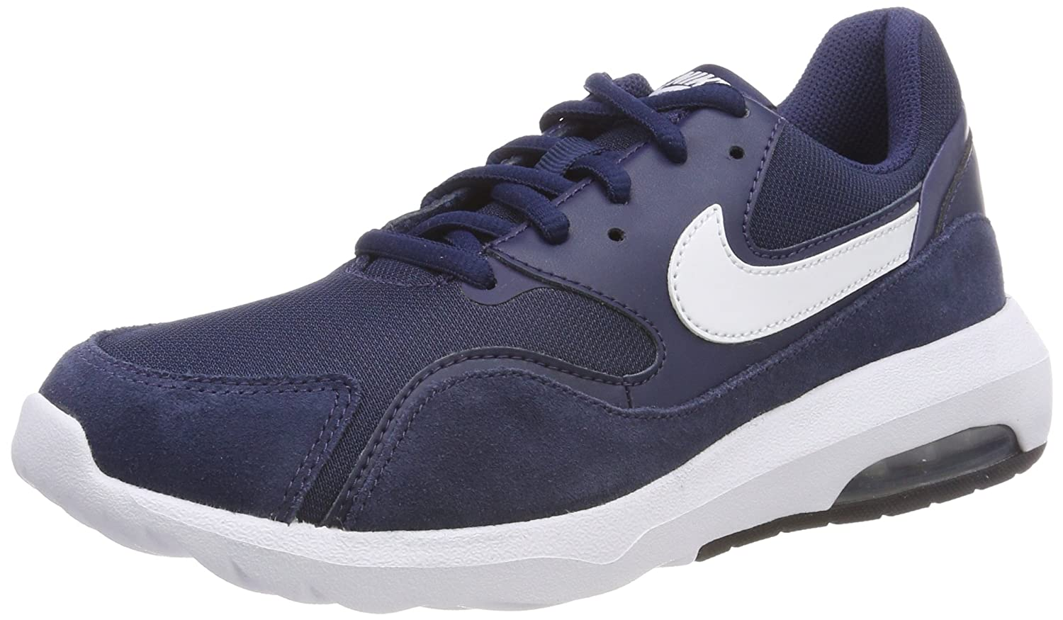 Nike Air MAX Nostalgic, Zapatillas de Gimnasia para Hombre 42.5 EU|Azul (Midnight Navy/White/Black)