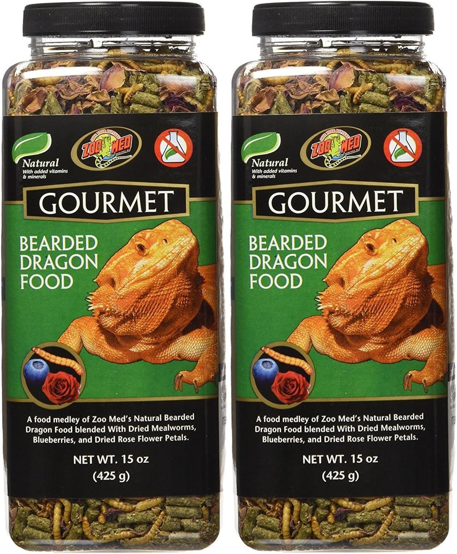 Zoo Med 2 Pack of Gourmet Bearded Dragon Food, 15 Ounces each