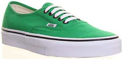 b32a782b2ff61a Image Unavailable. Image not available for. Colour  SV - Vans Authentic  Womens Canvas Plimsolls Lace Up Trainers Mens Size Avail - Green