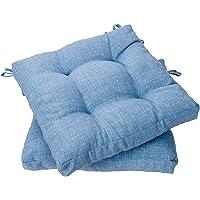 Viste tu hogar Pack 2 Cojines para Silla, 40x40 CM, Efecto Tridimensional, Relleno de…