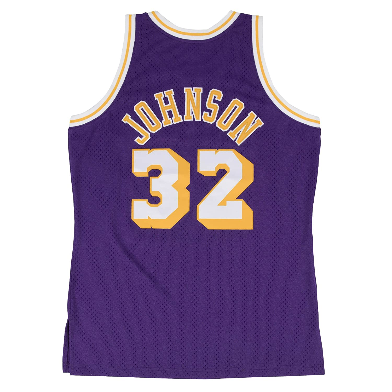 46b791f09 Amazon.com   Mitchell   Ness Los Angeles Lakers Mens Jersey 32 Magic  Johnson Swingman Purple   Sports   Outdoors