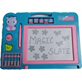 Glitter Colleection Double Sided Magic and Chalk Slate, Sky Blue