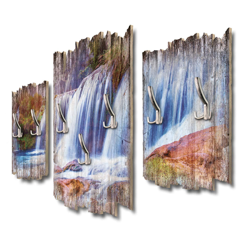 Kreative Feder Wasserfallpanorama Designer Wandgarderobe Flurgarderobe Wandpaneele 95 x 60 cm aus MDF DTGH111