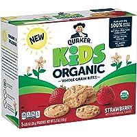 Quaker Kids Organic Whole Grain Bites, Strawberry, 1.05oz Pouches, 5 Count