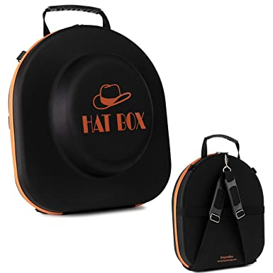 Hat-Box-Travel-Fedora-Case Universal Size Hat Carrier for Most Hats Carry-On  Hat Bag ... 541bf9b2370