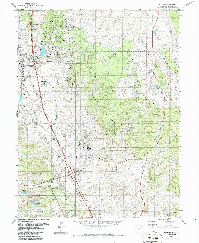 Amazon.com : YellowMaps Monument CO topo map, 1:24000 Scale ...