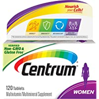 Centrum Multivitamin for Women, Multivitamin/Multimineral Supplement with Iron, Vitamins D3, B and Antioxidants - 120…