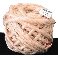 M.G Enterprise Knitting Yarn Thick Chunky Roving Jumbo Wool, Skin 100 gm Best Used with Knitting Needles, Crochet Needles Roving Jumbo Wool Yarn for Knitting. by M.G Enterprise