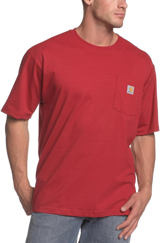 Carhartt SHIRT メンズ B000G79L5C L|Independence Red (Closeout) Independence Red (Closeout) L