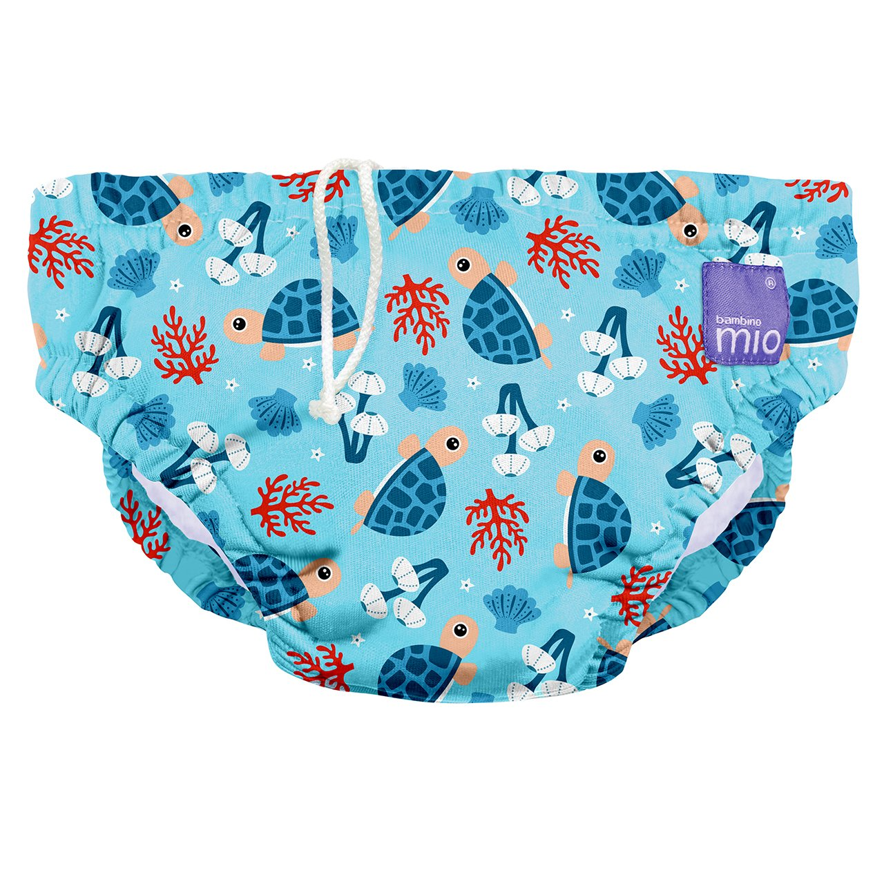 1-2 Years Coral Reef Reusable Swim Nappy Bambino Mio Multicolour Large