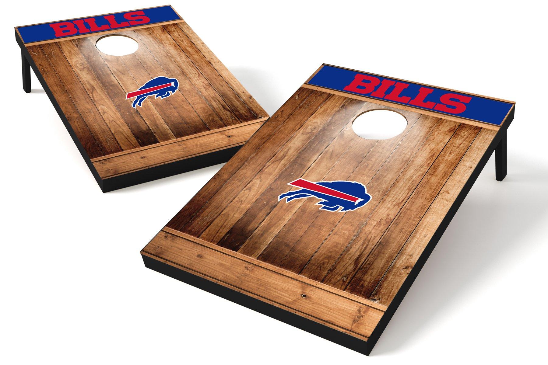 Wild Sports NFL Buffalo Bills 2'x3' Cornhole Set - Brown Wood Design