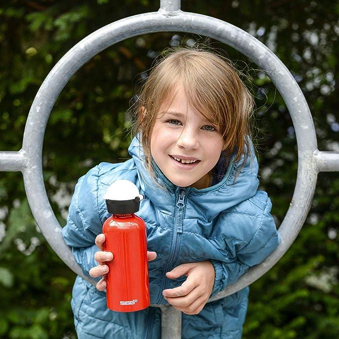 sin BPA ca/ño Segura Rojo 0,4/l Sigg Ni/ños KBT Tomato L Botella de Aluminio