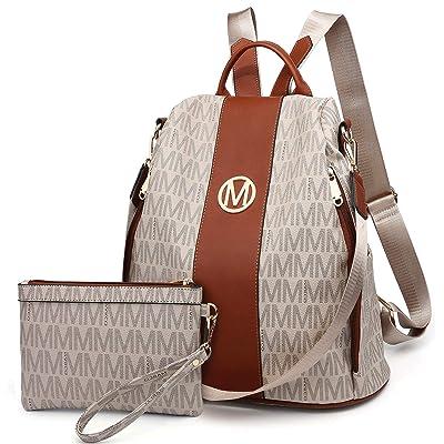 Women/'s Leather Backpack Anti-Theft Rucksack School Shoulder Shoulder Tote Bags