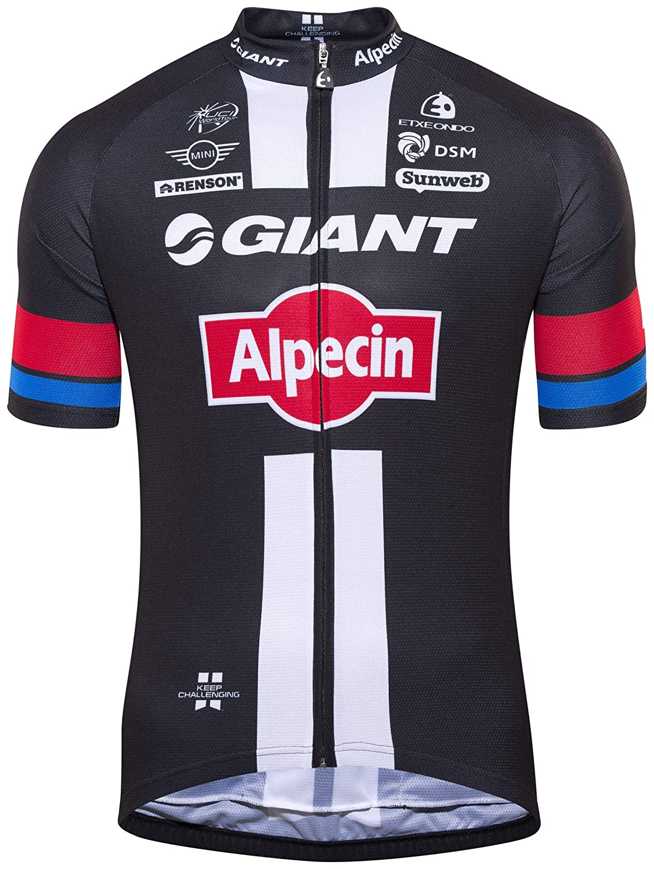 ETXEONDO Replica Team Giant-Alpecin Standard Jersey Men schwarz 2016 Radtrikot kurzärmlig