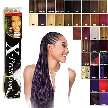 X-PRESSION Plaited Hair Extensions Model