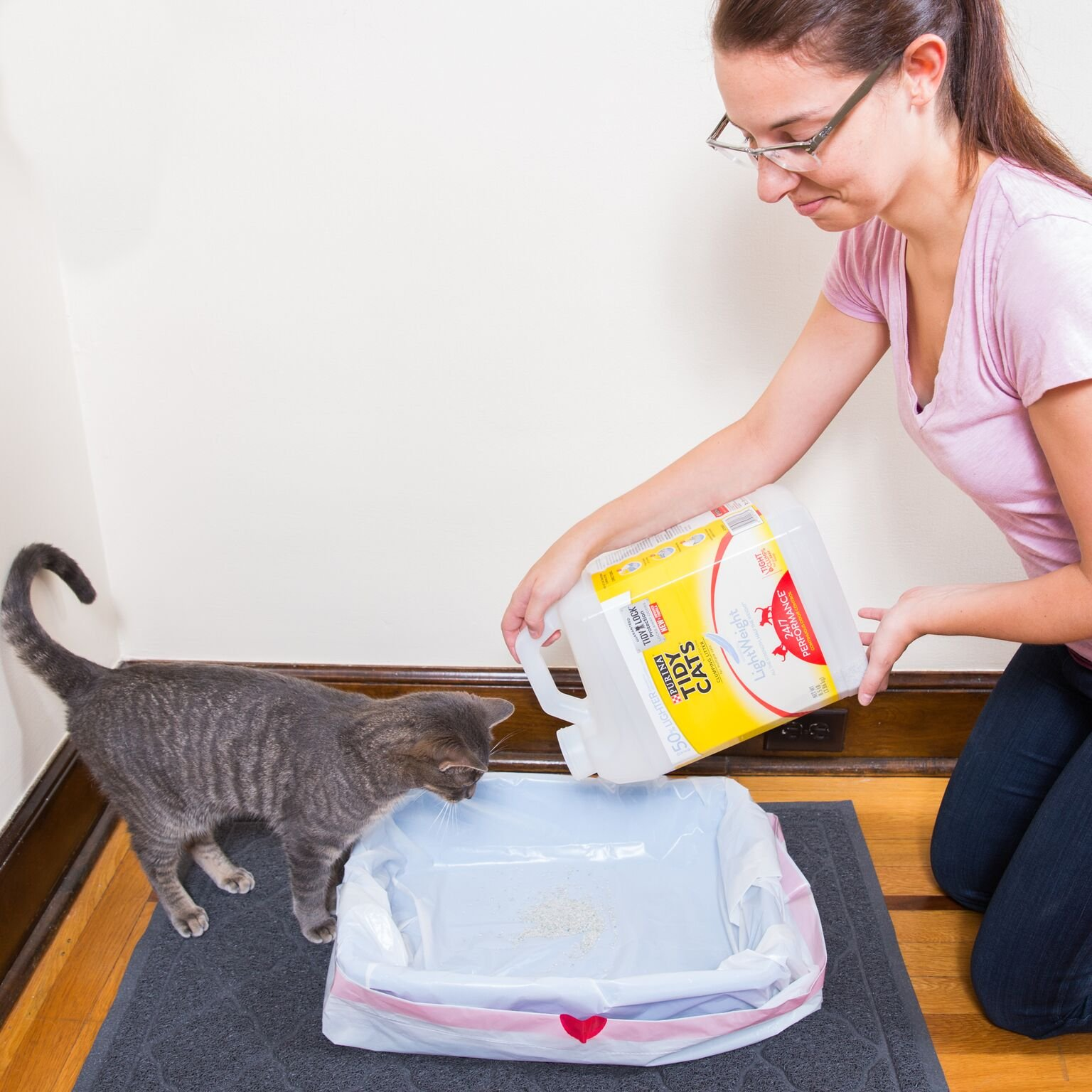 Easyology Ziggy Cat Litter Box Liners - Super Strong and Thick Cat Litter Liner 3-Pack -15 Litter Liners - Cat Litter Bags