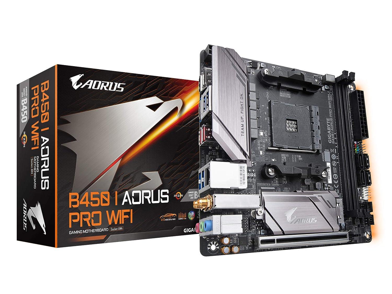 GIGABYTE B450 I AORUS PRO WiFi (AMD Ryzen AM4/M 2 Thermal Guard with  Onboard WiFi/HDMI/DP/USB 3 1 Gen 2/Mini ITX/Motherboard)