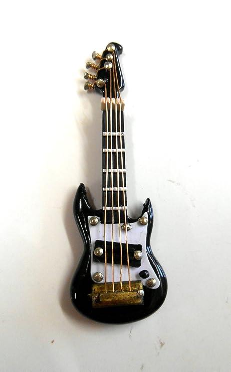 MELODY Jane Miniatura Para Casa De Muñecas 1:16 Escala Música Habitación Accesorio Guitarra Eléctrica