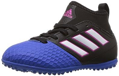 new arrivals 03c99 1f7bd ... uk adidas performance kids ace 17.3 j turf soccer cleat black white  blue 9e39d 4ab85
