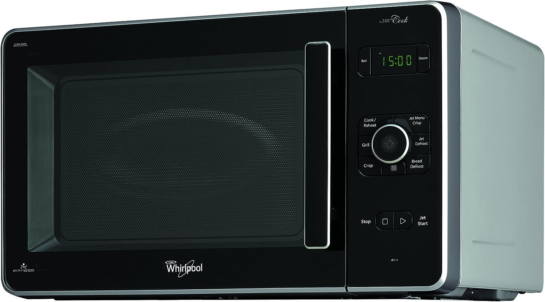 Whirlpool JC 216 SL - Microondas (220-240V, 50/60 Hz, 10A, 54.8 cm, 46.1 cm, 33.3 cm) Negro [Importado de Italia]