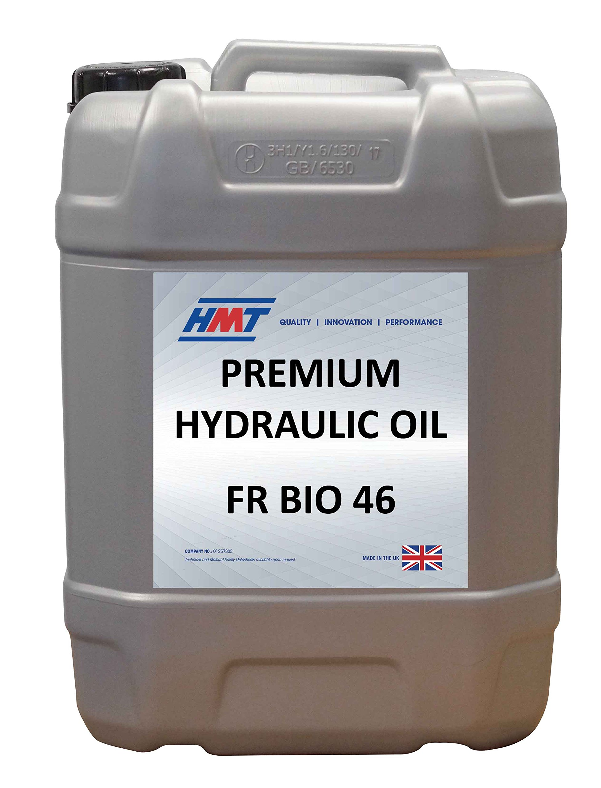 HMTH203 Premium Hydraulic Oil Fire Resistant Biodegradable 46 - 20 Litre Plastic by HMT