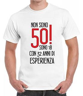 T Shirt Per Compleanno 50 Anni Maglietta Divertente Con