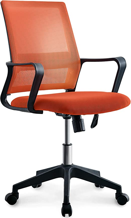 Amazon Com Neo Chair Office Chair Computer Desk Chair Gaming Ergonomic Mid Back Cushion Lumbar Support With Wheels Comfortable Brown Mesh Racing Seat Adjustable Swivel Rolling Home Executive Furniture Decor