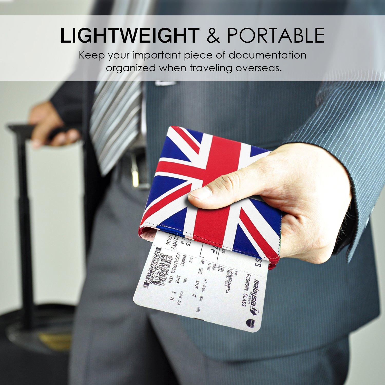 Passport Holder//Case Cover Multiprop/ósito para 5.5 Pulgadas Bandera Espa/ñola MoKo Carteras//Funda de Pasaporte