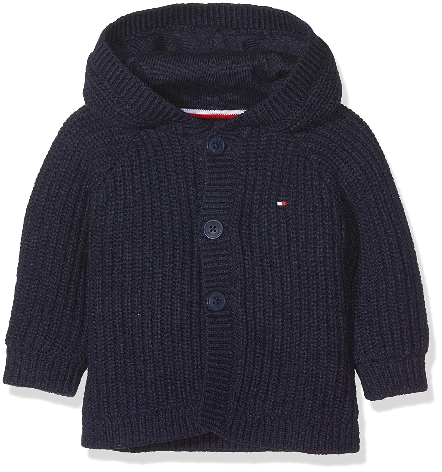 Tommy Hilfiger Unisex Kapuzenpullover Baby Textured Hooded Cardigan KN0KN00917