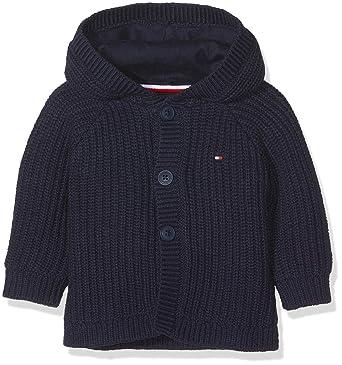 3f6cd13d Tommy Hilfiger Unisex Baby Textured Hooded Cardigan Hoodie, Blue (Black Iris  002),