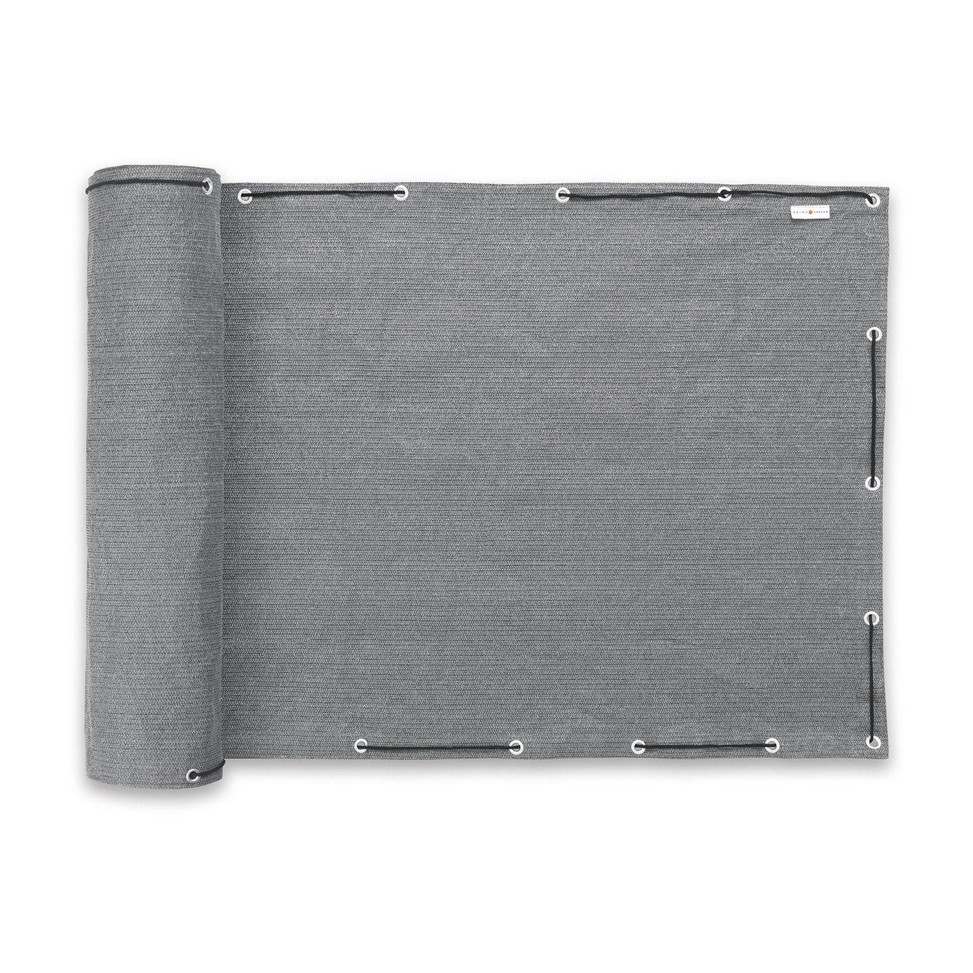 Prima Garden balcone della Visione di e–?? in grigio | 500x 90cm | falte libero | robusto | Resistente alle intemperie, resistente ai raggi UV | Privacy di tenuta