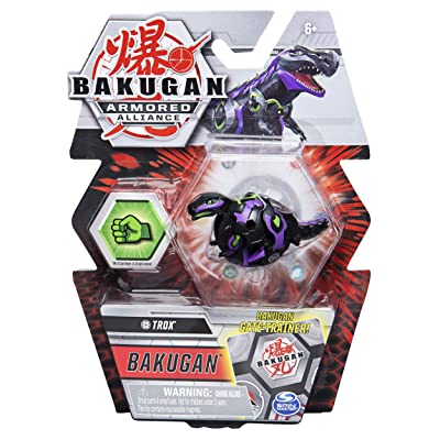 Bakugan Armored Alliance Core 2-inch Collectible Transforming Figure Trox (Darkus Faction): Toys & Games
