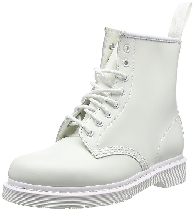 c926e909e26 Adultos Unisex Dr Martens 1460 Mono Suave Cuero Blanco Airwair Botas -  Blanco - 48  Amazon.es  Zapatos y complementos