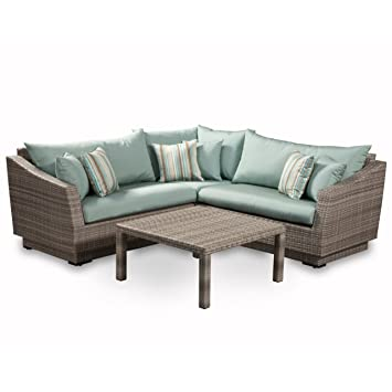 Amazoncom  RST Brands Piece Cannes Sectional And Conversation - Rst outdoor furniture