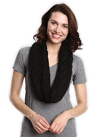 6a8dc89284c7b Chunky Cable Knit Infinity Scarf by Tough Headwear - Stay Warm   Stylish  Year Round - Circle Loop Scarves for Women   Men at Amazon Women s Clothing  store