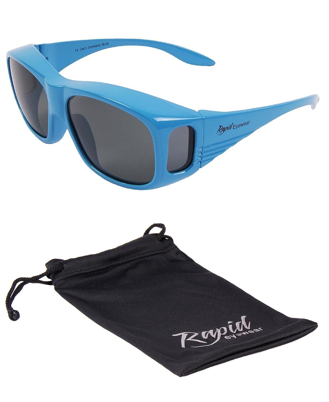 Rapid Eyewear Rot Polarisierte UV400 Überbrille mit UV400 Schutz, normale Größe. Sonnenüberbrille für damen und herren, die über die Brille passt