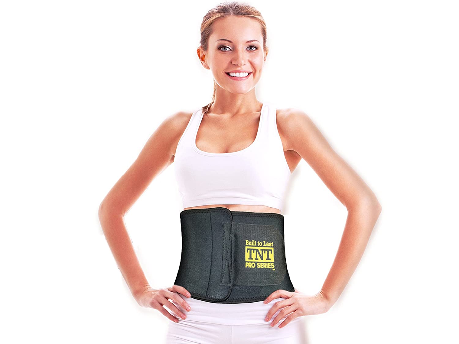 8ddb8a0e8b Amazon.com  TNT Pro Series Waist Trimmer Weight Loss Ab Belt - Premium  Stomach Fat Burner Sweat Wrap and Workout Waist Trainer  Sports   Outdoors