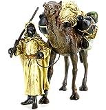 Araberkrieger mit Kamel - Wiener Bronze - Handbemalt - gestempelt - Orientale - Araberfigur - Vienna Bronze Beduine - Kunst online kaufen