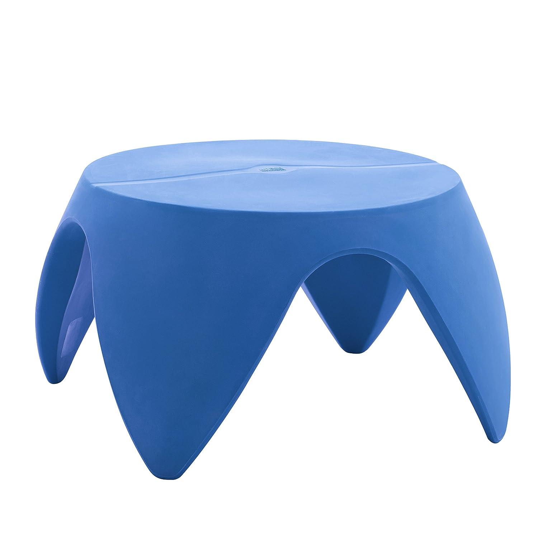 "ECR4Kids Indoor/Outdoor Furniture 18"" Blossom Table, Dark Blue"