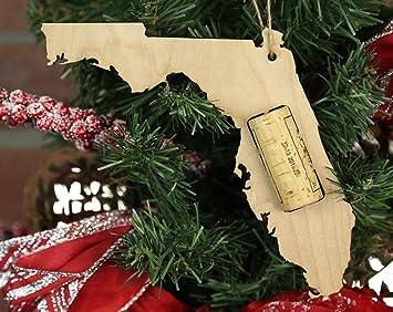 Amazoncom Wooden Shoe Llc Florida Wine Cork Christmas Tree