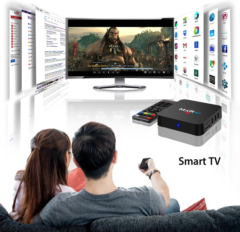 MXR-RPO 4K 3840x2160 4G+32G Android 7.1 TV BOX Boitier TV RK3328 Quad-Core 64bit Cortex-A53 HDMI 2.0a 4k@60Hz 3D Video Insere Antenne WIFI Bluetooth 4.1 Acceleration des Graphiques 3D Garantie 2 Ans: Amazon.es: